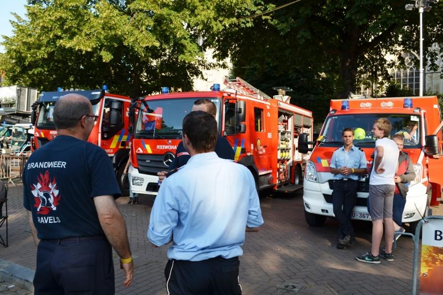 Brandweer Ravels op de Zavel op 21 juli